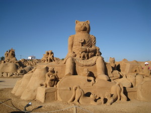 fiesta sand sculputre