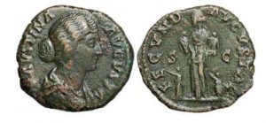 faustina roman coin